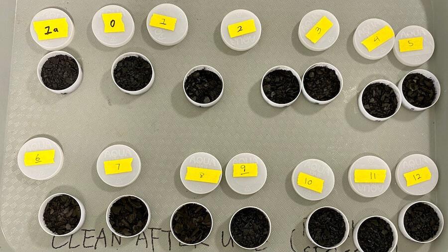 Water retention characterization of biochar samples.